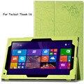"""Case Для Teclast Tbook 16 11.6 """"Tablet Case Цветочный Принт Элегантный Кожаный PU Стенд Case Обложка + Подарок"""
