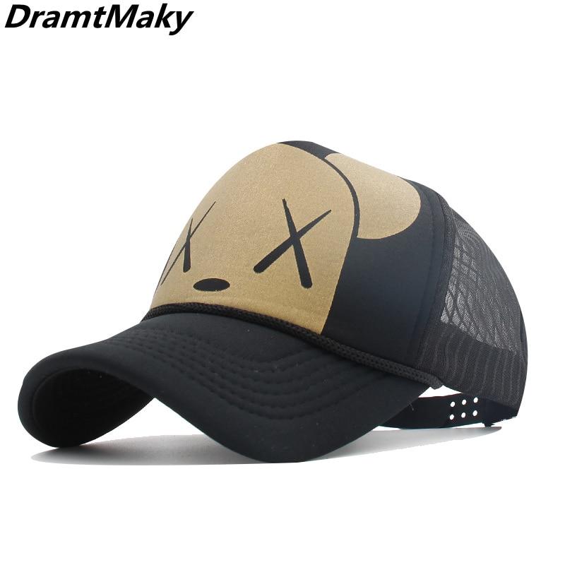 2019New Summer Baseball Cap Women Men Mesh Breathable Snapback Men Cap Unisex Adjustable Sport Hats Dad Hat Bone Truck Cap Gorro