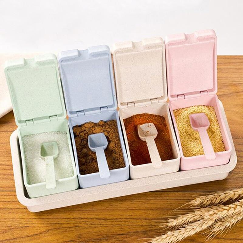 Kunststoff Gewürzglas Gefüllte Schublade Typ 4 Grid Stäbchen - Küche, Essen und Bar - Foto 1
