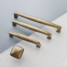 Vintage amarillo bronce muebles maneja gabinetes de cocina puerta corredera Tiradores para cajón o armario tirador de armario manilla empuje tire