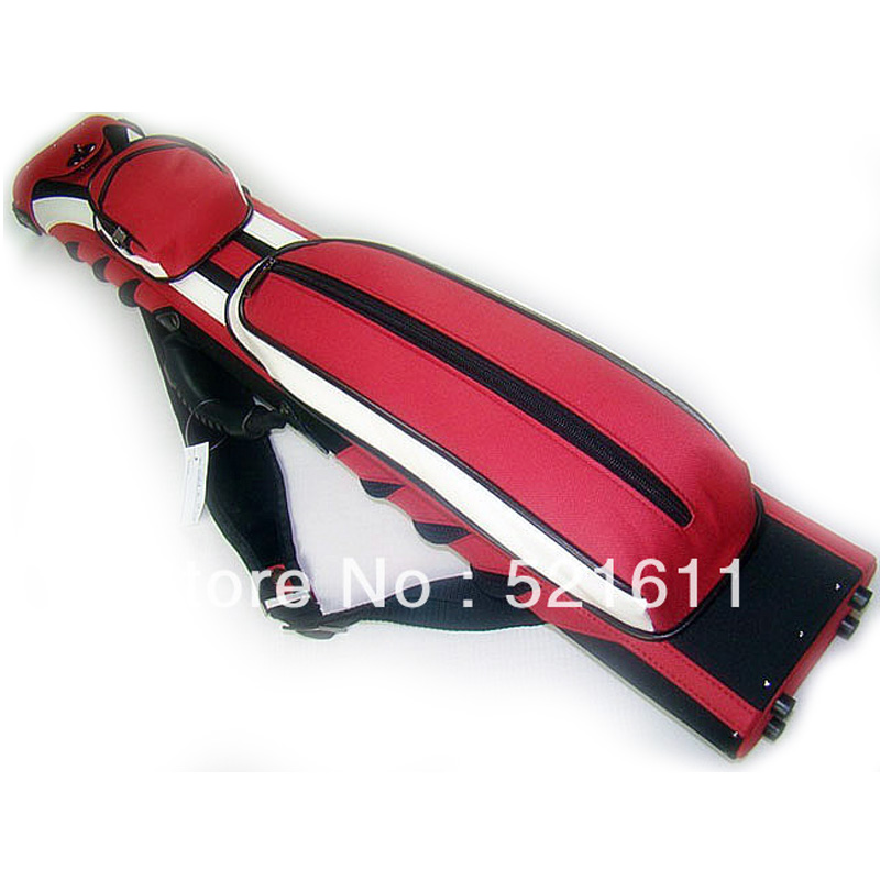 xmlivet High quality Canvas Sport Design 6Holes billiards Pool cue case in 2B4S/2butts 4shafts red and white design