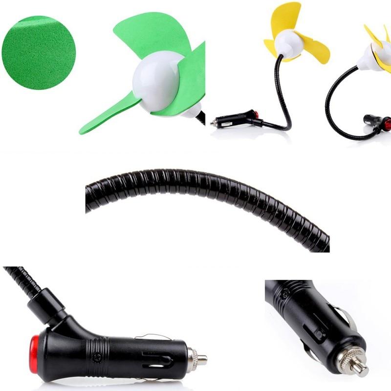 12V 5 inch Mini Car Fan Automobile Vehicle Flexible Gooseneck Cooling Car Fan Quiet Speechless Electric Cigarette Lighter Plug