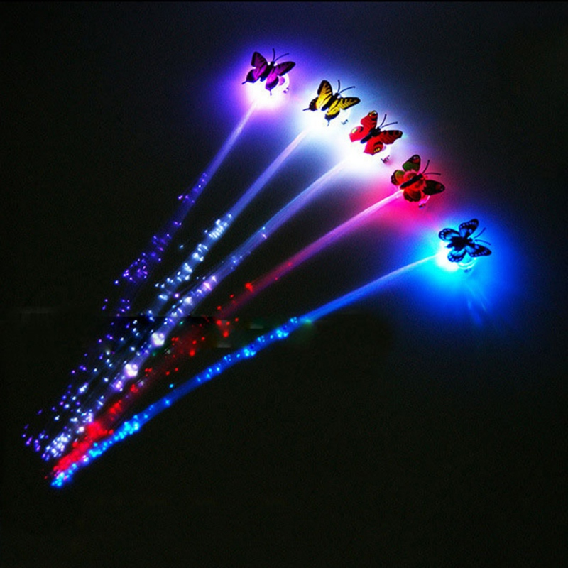 1Pcs Coloful Gradient LED Light-emitting Braid Hairpin Flash Braid Hair Ornament Girls Led Toys Hot Sale