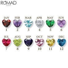 ROMAD 100pcs/Set 3mm aaa 12 month Birthstone Zirconia Stone Beads For DIY Jewelry Making Heart Crystal Zircon Colors R5