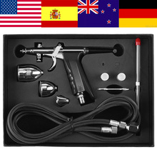 Professionele Spuitpistool Zwaartekracht Airbrush Kit 0.3Mm 0.5Mm 0.8Mm Nossles Cups Set Air Verfspuitpistool Diy art Craft Tool