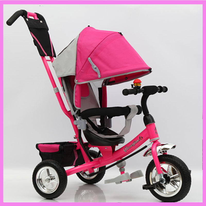 Children's Three Wheels Tricycle Bicycle Stroller Baby Carriage with 3 Wheels Shopping Cart Trike Kids Stroller Pushchair Buggy child drift trike 4 wheels walker kids ride on toys for 1 3 years tricycle outdoor driver