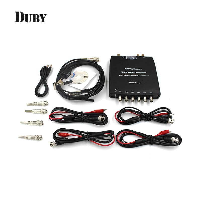 Hantek 1008C PC USB Automotive Diagnostic Digital Multimeter  Oscilloscope DAQ Program Generator 8CH 2.4MSa/s vehicle tester