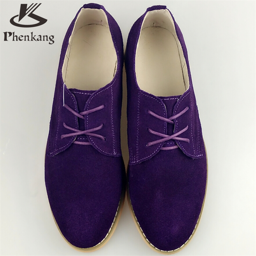 ФОТО Genuine leather big woman US size 11 designer vintage flat shoes round toe handmade purple 2017 oxford shoes for women with fur