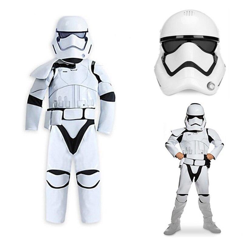 Children Star Wars Cosplay Costume Force Awakens Storm Troopers Halloween Costume For Kid Boy Carnival Deluxe