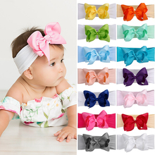 Korean fashion bow hairband knotted candy color headband Newborn wedding party Hair Accessories Toddler headwear Dropshipping