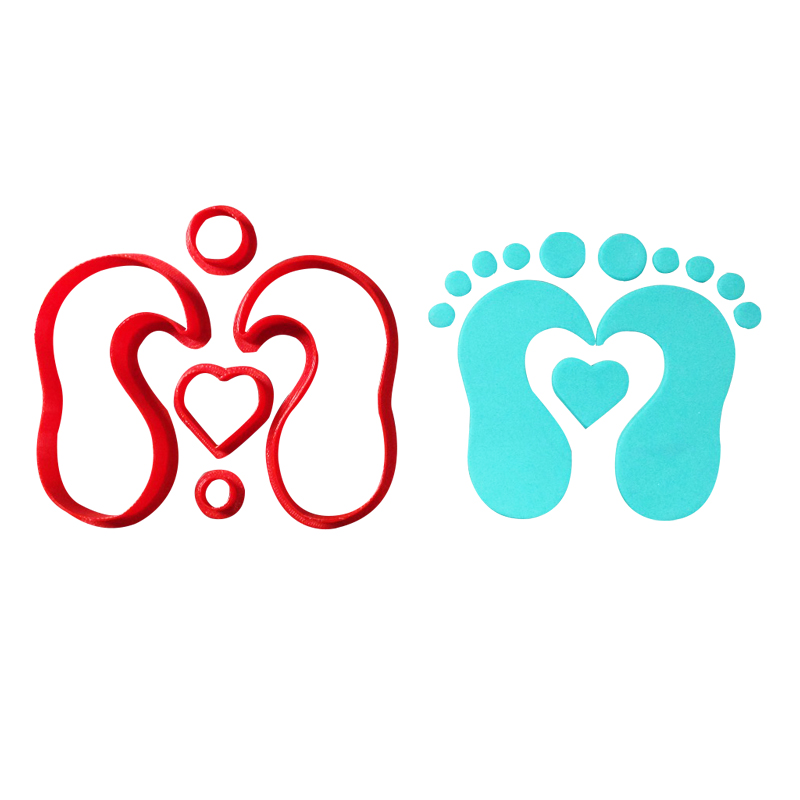 Cute Baby Feet Hand Series Cookie Cutters Fondant Cupcake Top Custom Made 3D Printed Cookie Cutter Set Cake Decorating Tools