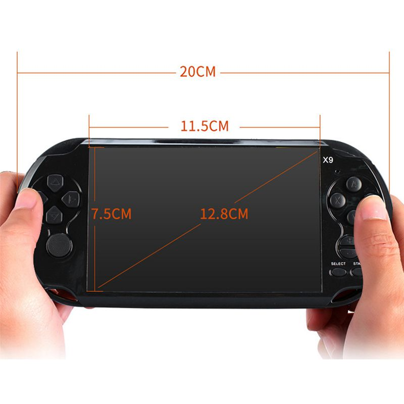 Image 4 - Powkiddy Retro Handheld Game Controller 8GB 5.1 Inch Screen Classic Games AV Output TV Video Game Console Support Movie Camera-in Handheld Game Players from Consumer Electronics