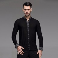 color ballroom dance shirt mens latin shirt mens ballroom shirts men's latin dance costumes dance top mens ballroom dancewear