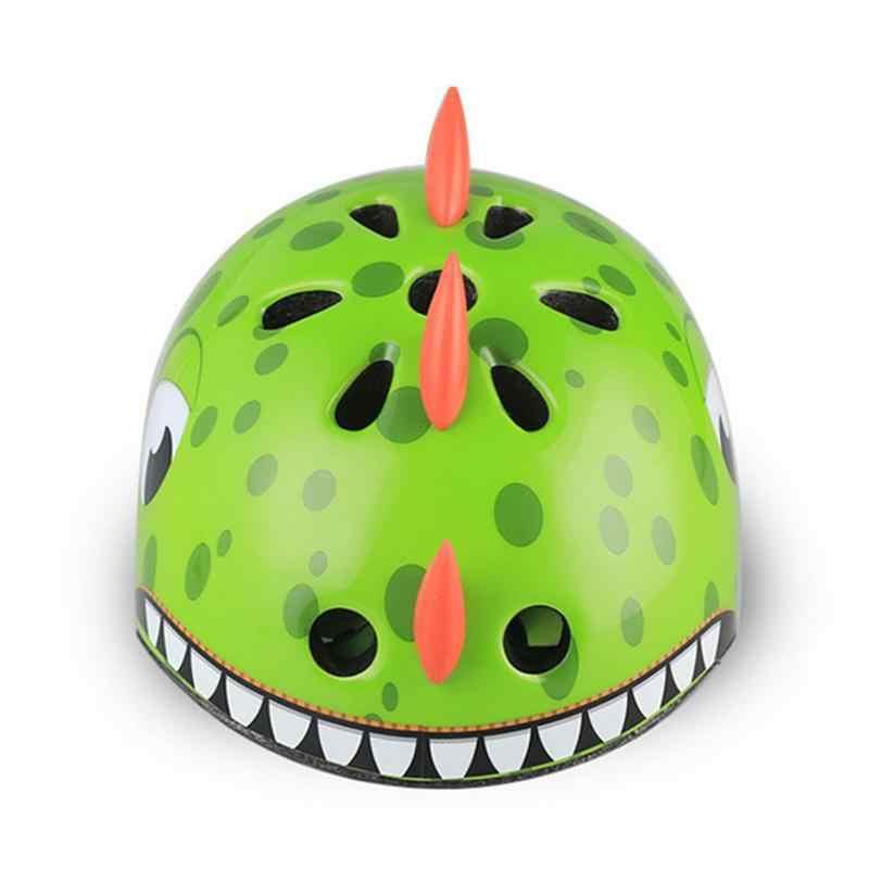 Мягкий Детский велосипедный шлем детский спортивный шлем Защитное снаряжение 3D мультфильм Динозавр шлемы для катания на велосипеде