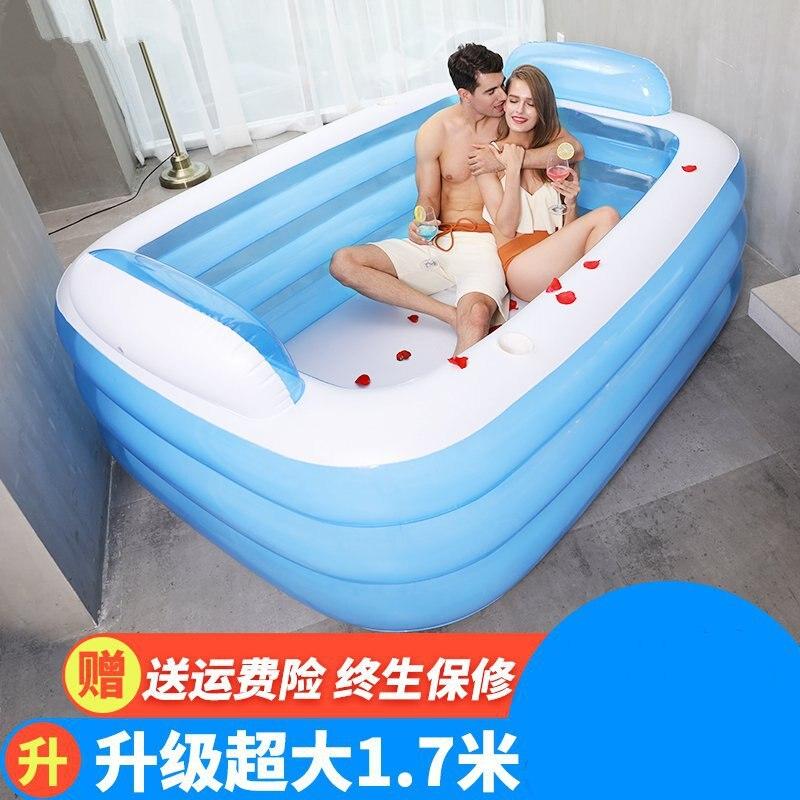 Ménage adulte baignoire gonflable épaissie bulle bain seau pliant enfant bassin de bain peut s'asseoir et mentir grand bassin de bain