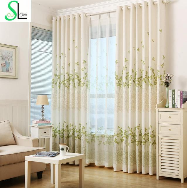 Linen Printing Curtain Cloth Modern Pastoral Cotton French Window ...