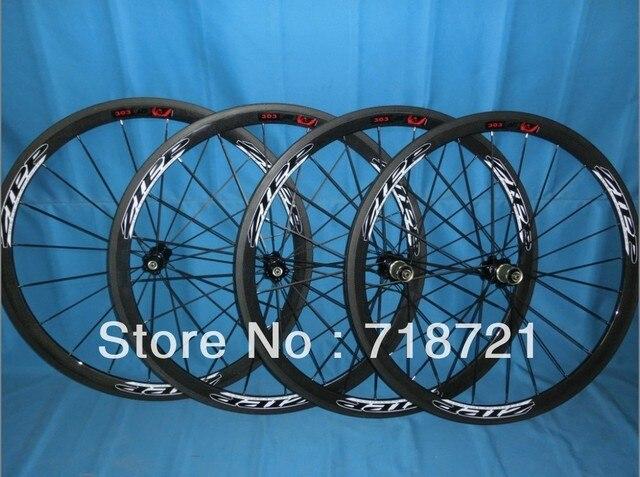 wholesale-38mm zipp303 firecrest carbon road clincher/tubular wheelset clincher +novatec hub+spokes+skewer&3k glossy/matte