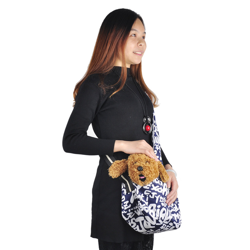 Fashion Dog Cat Lemmiklooma kandekott Oxfordi riidest materjal Ühe õlakott Soe talvise rindkere Samll koera vedaja reisimiseks