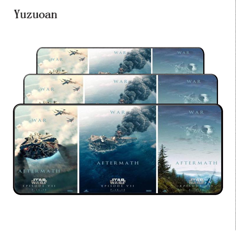 Yuzuoan Star Wars 900x400mm Gaming Large Mouse Pad Mouse Pad Mat Cushion blocked Gaming Mousepad mouse mat For CS GO DOTA Games