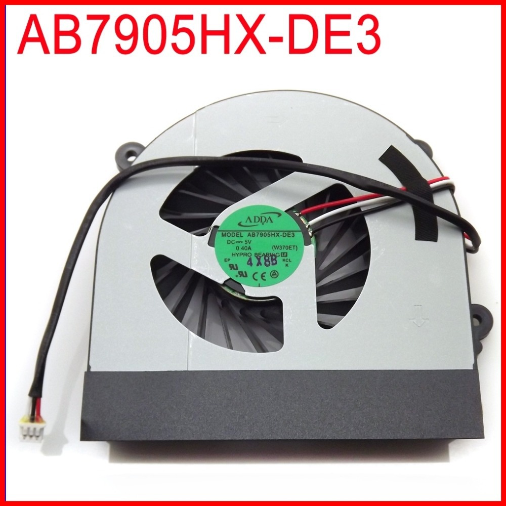 AB7905HX-DE3(W370ET) 6-31-W370S-101 DC5V 0.40A For Clevo W370ET W370S W350ETQ W350STQ W370ST W350ET Cooling Fan kid s box 2ed 6 ab online resources
