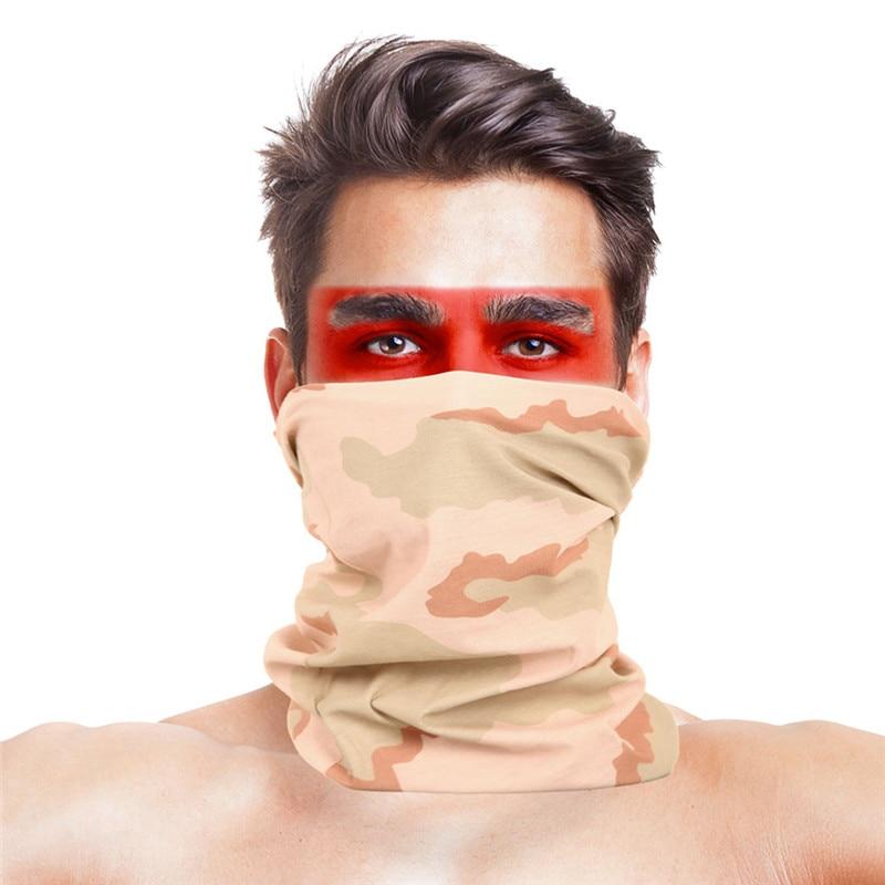 Straight Tubular Handkerchiefs 100% Polyester Microfiber Unisex CS War Game Neck Face Mask Shawl Men Women Clothing Accessories