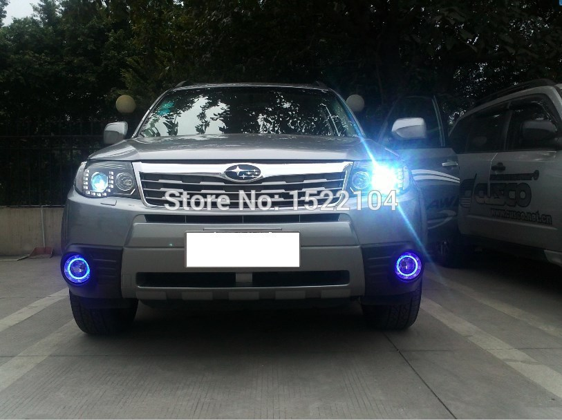 ФОТО Free Car Styling 2 pieces/set Daytime running lights for 09-12 Forester car-specific daytime running LED  lights car decoration