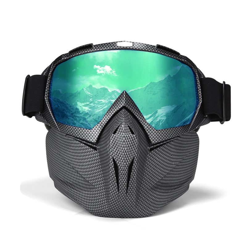 Men Women Ski Goggles Snowboard Snowmobile Goggles Snow Winter Windproof Skiing Glasses Motocross Sunglasses with Face Mask