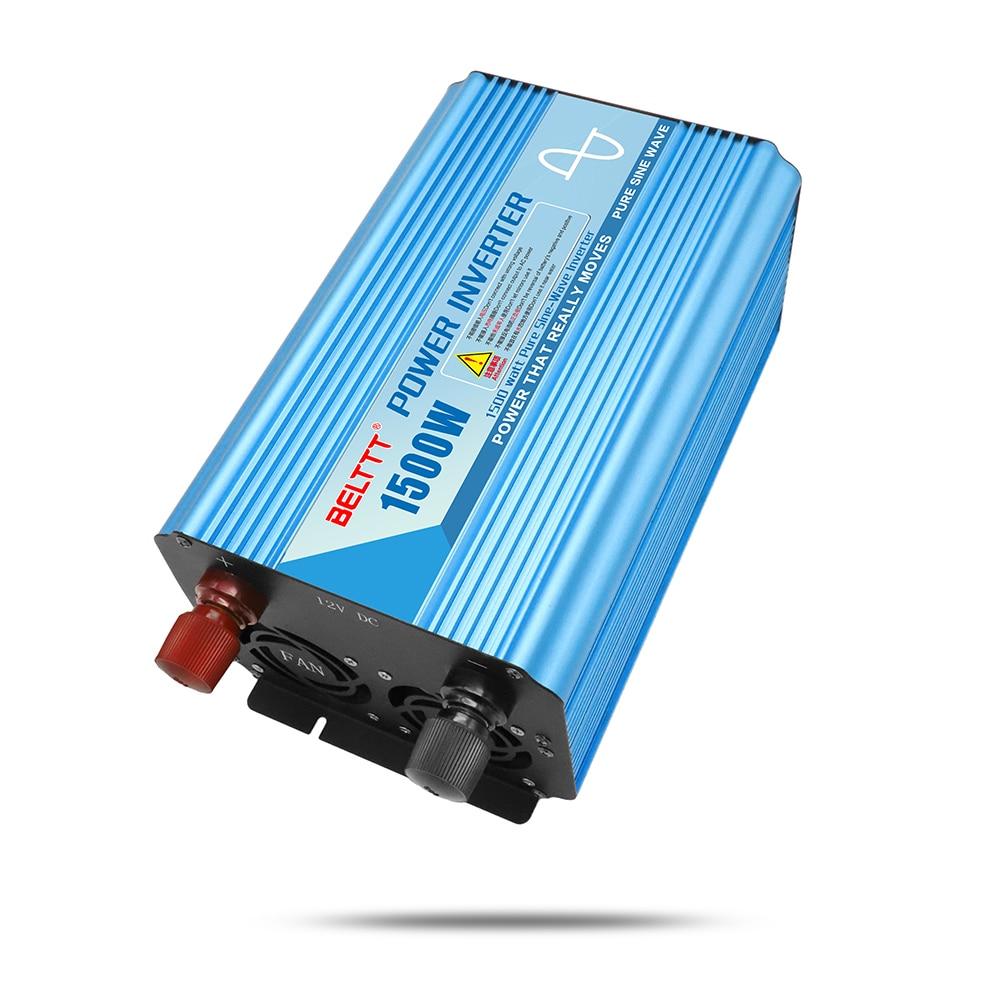 Livraison gratuite BELTTT 12/24/48 V à 110/120 ~ 220/220 V 1500 w pur onde sinusoïdale solaire pv onduleur prix