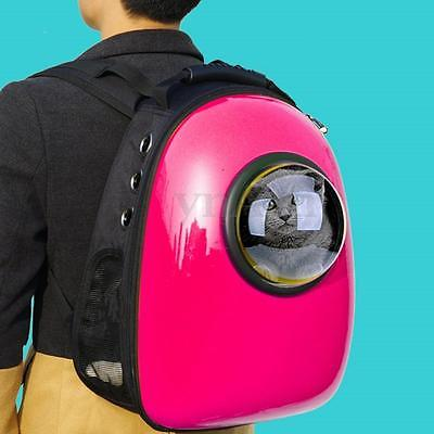 Transparent Breathable Dog Backpack Astronaut Capsule Pet Carrier Candy Color Cat Travel Bag travel tale fashion cat and dog capsule pet cartoon bag hand held portable package backpack