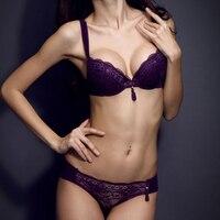 новый 2015 продаются благородных белый черный женщины intimates глубокий v-образным вырезом кружева алмаз краткие бюстгальтеры нижнее белье женщины бюстгальтер набор