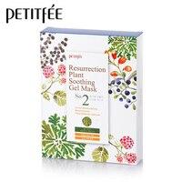 PETITFEE Resurrection Plant Soothing Gel Mask 10pcs Cactus Hydrating Facial Mask Whitening Firming Face Skin Care Korea Cosmetic