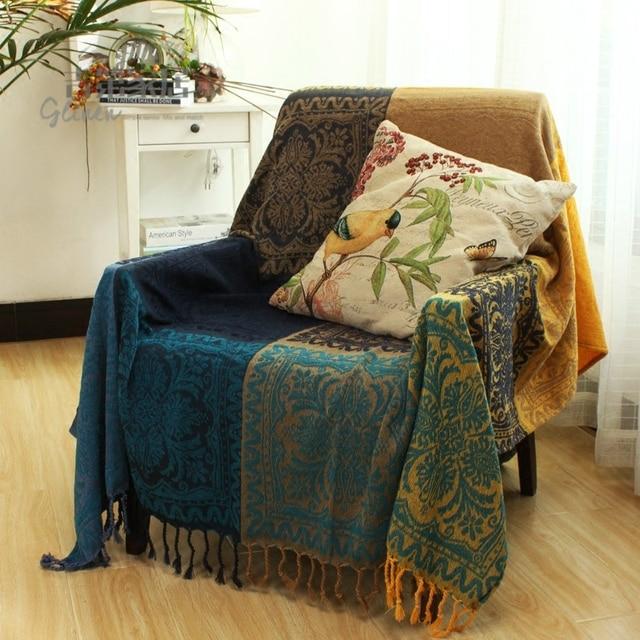 Cotton Throw Blanket Sofa Cover Thread Spain Velvet Chenilleline Decorative Carpet Mat Beach Towel