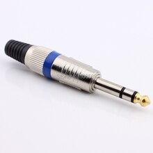 Бесплатная доставка 3pin стерео усилитель 6.35 мм микрофон 6.35 мм штекер в разъем 6.5 мм стерео аудио разъем гнездо 5 шт./лот