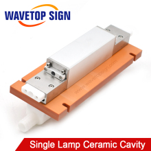 WaveTopSign Laser Welding Machine Single Lamp Ceramic Cavity use Xenon Lamp 8*125*270mm Crystal Rod 7*145mm