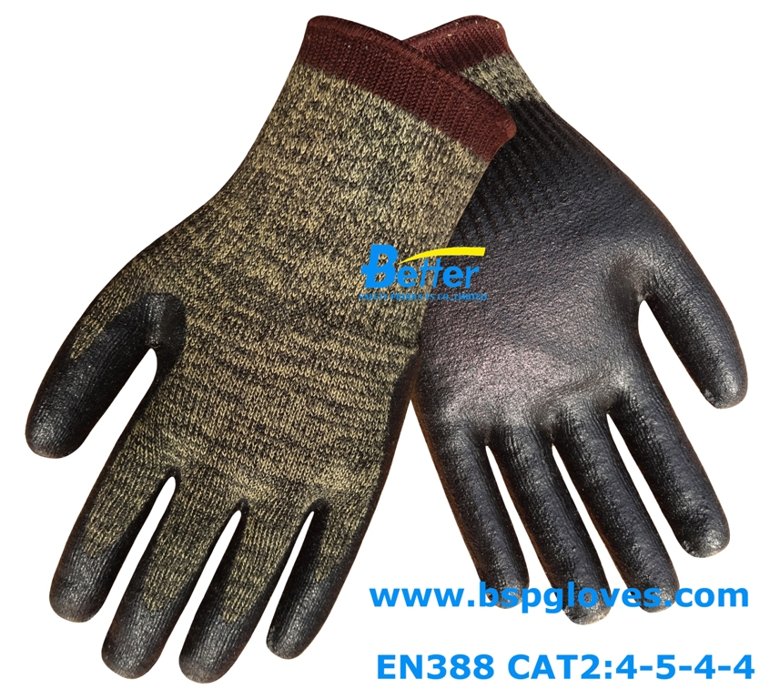 цена на HPPE Working Gloves Steel Gloves Nitrile Dipped 6 Pairs Aramid Fiber Work Glove