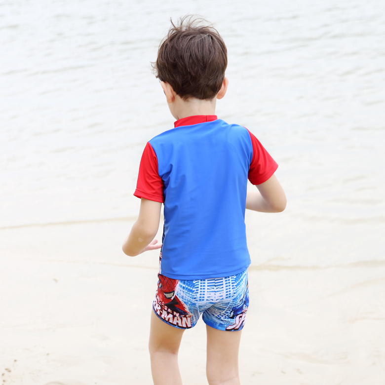 bd32e860a082a Kids Cartoon Two pieces Swimwear Boy Spider Man Swimsuit Children Bathing  Suits Toddler Beachwear for 3 11 Years Old-in Children's Two-Piece Suits  from ...