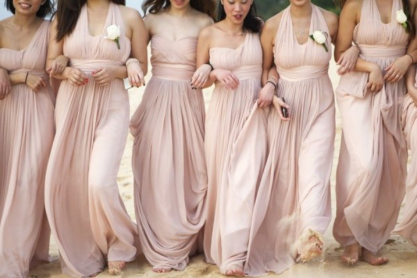 Aliexpress.com : Buy Blush Light Pink Long Chiffon Bridesmaid ...