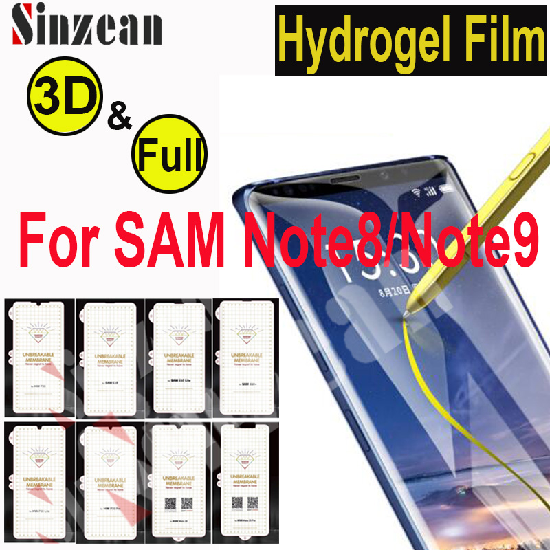 Sinzean 20pcs TOP Quality For Samsung Note 8 3D Soft hydrogel Film For Galaxy Note 9 Full Cover Screen Protector Phone Screen Protectors  - AliExpress