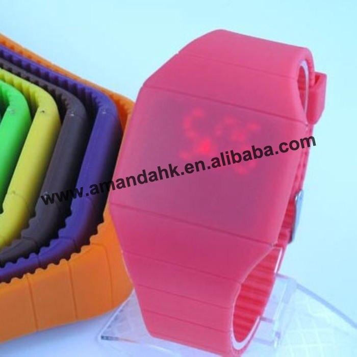Strap Watch Woman Ultra-Thin-Design Unisex New Fashion Newest 100pcs/Lot LED Girls Silicone