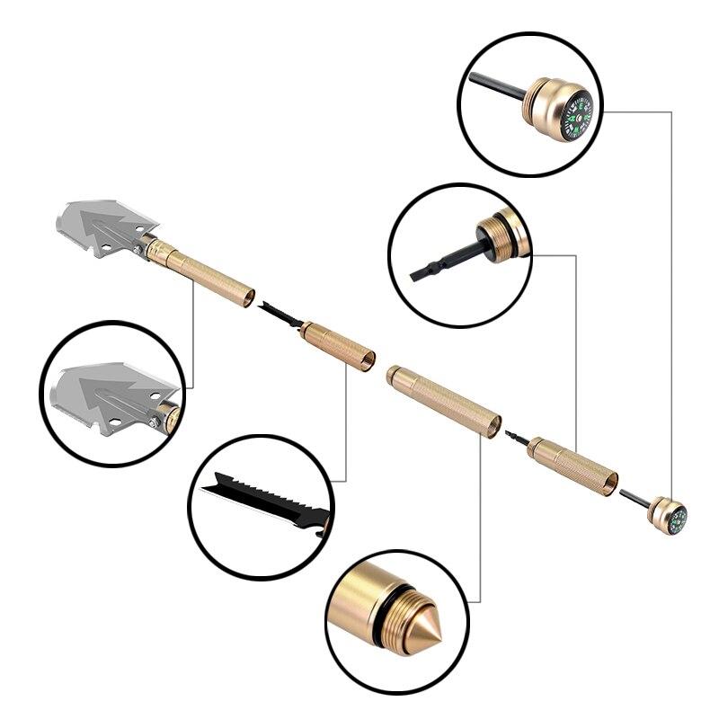 גינון צבא הקיפול Shovel גני קמפינג הישרדות המשולבת ספייד Shovel החיצוני Pocket Knife Multitool כלי גינון (3)