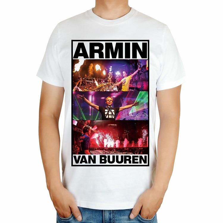4 вида Armin Van Buuren бренд певица диджейская футболка белый mma с принтом хлопковая футболка музыка живой Фитнес camisetas hombre - Цвет: Небесно-голубой