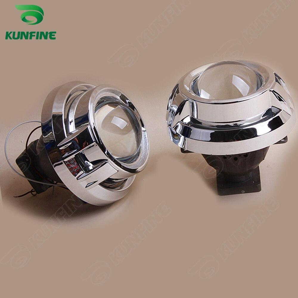 Kit de lente de proyector HID bi xenon de coche de 3,0 pulgadas con cubierta de Cayenne incluye bombilla D4S HID para faro de coche alta baja alta baja y haz - 4