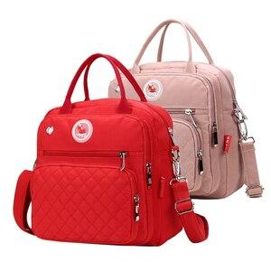 Image 5 - Mom Diaper Bag Waterproof Nylon Baby Nappy Bag Women Travel Backpakc for Baby Nursing Maternity Bag bolsa maternidade 4 Colors