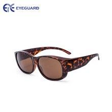 EYEGUARD Lady Fashion Fit Over Sunglasses Oval Rectangular Polarized Glasses Women