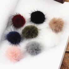 Handmade earrings made ornaments Hair Barrette material 50mm mink fur ball DIY hairpin headdress flower accessories