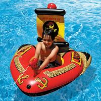 Children's Water Inflatable Swimming Ring Floating Bed Water Toy Ship Shape Swimming Pool Party Water Recreation Relaxation