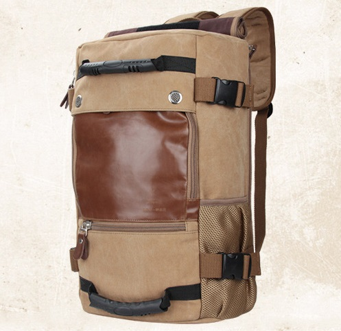 New European and American high-capacity portable canvas backpacks shoulder bag men and women backpack 0208