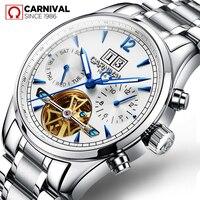 Carnival 2019 Men's Watches Top Brand Luxury Business Automatic Clock Tourbillon Waterproof Mechanical Watch relogio masculino