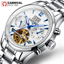 Carnival 2019 Men's Watches Top Brand Luxury Business Automatic Clock Tourbillon