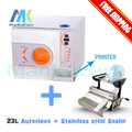 High quality 23 Liters Autoclave and sealer dental sealing machine sell in package